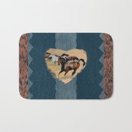 Horse and Western Theme Bath Mat