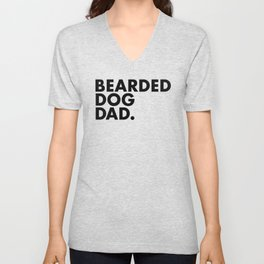 Bearded Dog Dad Unisex V-Neck