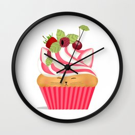 Pinkberry Cuppycat Wall Clock