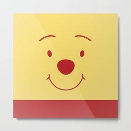 Winnie The Pooh Cute Bear Metal Print