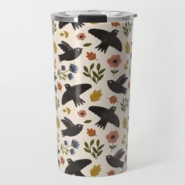 Autumn Birds in Flight Pattern Travel Mug