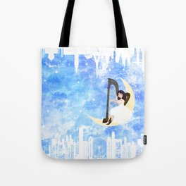 Harp girl 5: Connection Tote Bag