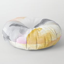 Tequila Sunrise Abstract Floor Pillow