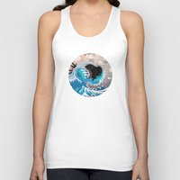 clouds Tank Tops featuring The Unstoppabull Force by Mat Miller