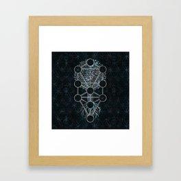 Kabbalah The Tree of Life - Etz Hayim Framed Art Print