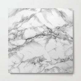 Marble - Gray Metal Print