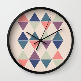 Colorful Triangle Pairs Wall Clock