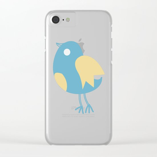 Cute Birds Pattern Clear iPhone Case