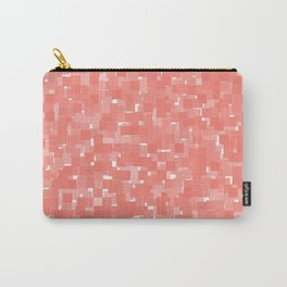 Peach Echo Pixels Carry-All Pouch