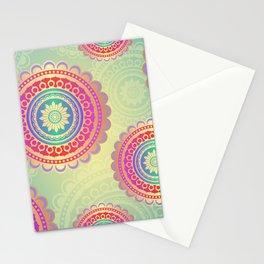 Colorful Geometric Mandala Pattern Stationery Cards