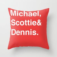 chicago bulls Throw Pillows featuring Chicago Bulls (classic) by Will Wild