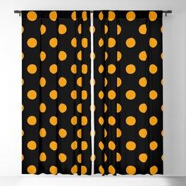 Polka Dots (Classic Orange & Black Pattern) Blackout Curtain