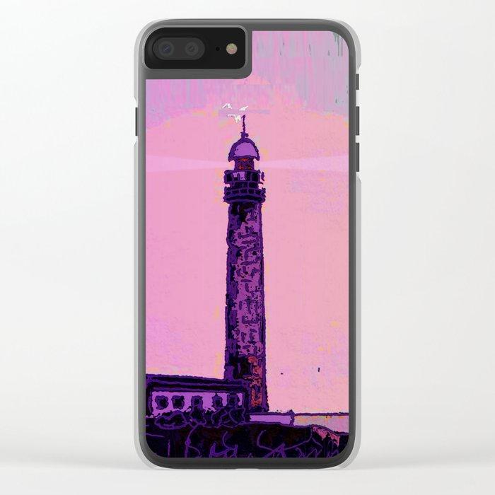 Golden Hours / Lighthouse Barlovento La Palma Clear iPhone Case