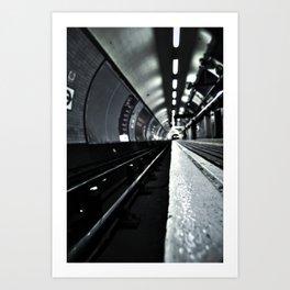 Kings Cross Tube 5am Art Print