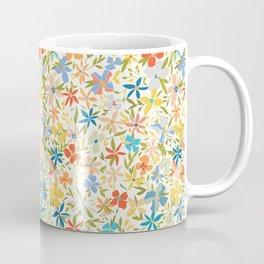 Colorful Retro Floral Coffee Mug
