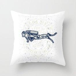 Scuba Diver Dive Team Throw Pillow