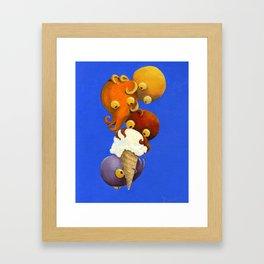 Octopus & Ice Cream: Vanilla Framed Art Print