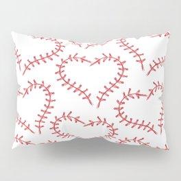 Heart pattern. Baseball. Pillow Sham