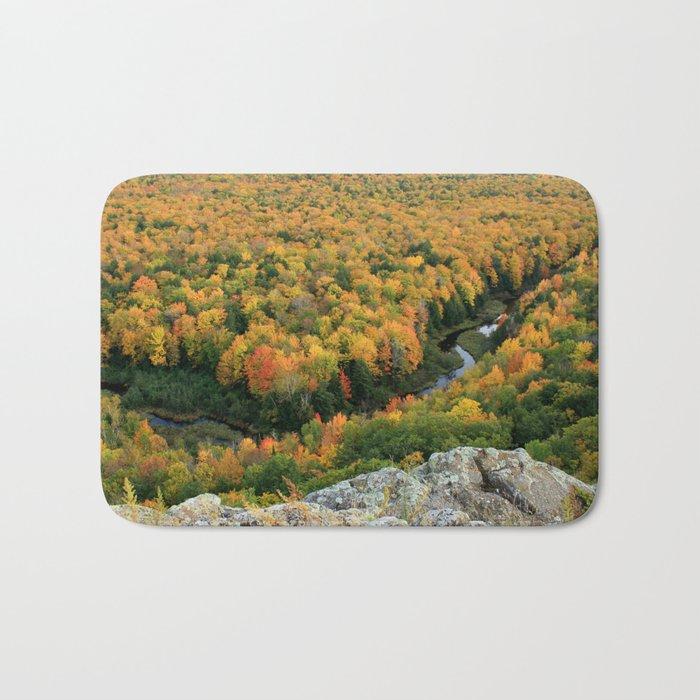 Autumn Colors at the Carp River Valley, Porcupine Mountains State Park, Upper Peninsula, MI Bath Mat
