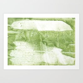 Light green painting Art Print