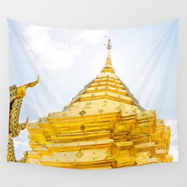 Golden Stupa Wall Tapestry