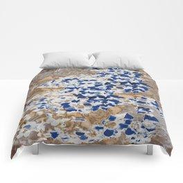 Peeling Blue Flowers Comforters