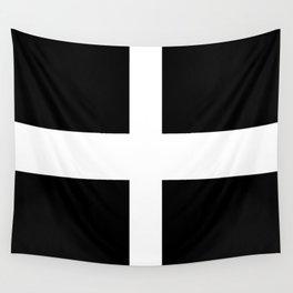 Saint Piran's Flag of Cornwall UK Wall Tapestry