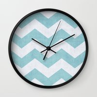 salt water Wall Clocks featuring Salt + Water by The Dreamery