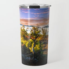 morning lights in the Basque mountains Travel Mug