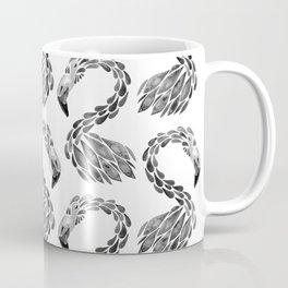 Miami Flamingo – Black Ink Coffee Mug