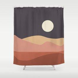 Geometric Landscape 23B Shower Curtain