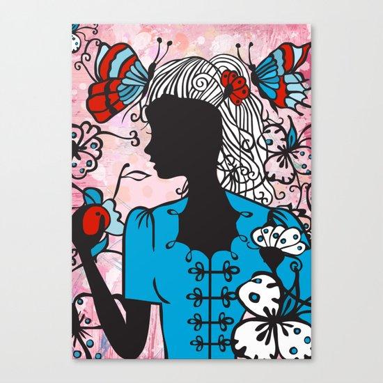 Blue Blouse Canvas Print