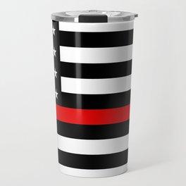Thin Red Line American Flag Travel Mug