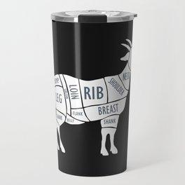 Butchery Guide Cuts Of Goat Travel Mug