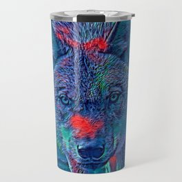 AnimalBlue_Wolf_001_by_JAMColors Travel Mug