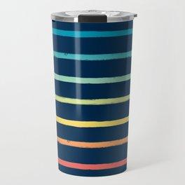 Blue Festival Rainbow Stripe Travel Mug