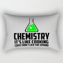 Chemistry funny quote Rectangular Pillow