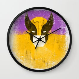 Logan grunge Wall Clock