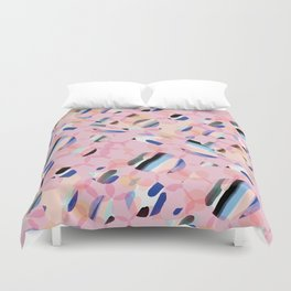 Pink Abstract Platelet #expresive #pink Duvet Cover