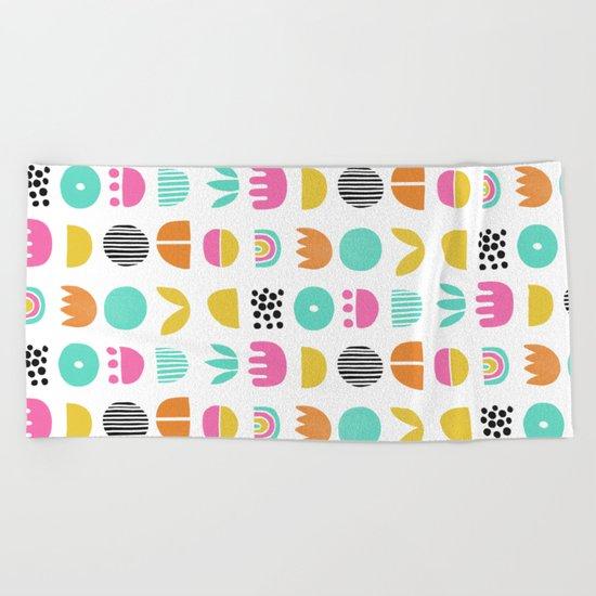 SIMPLE GEOMETRIC 001 Beach Towel