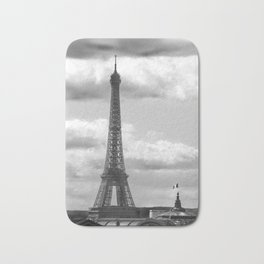 Eiffel Tower from rooftop of Galeries Lafayette Bath Mat