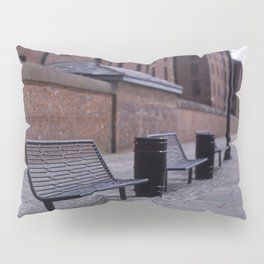 a row of benches Pillow Sham