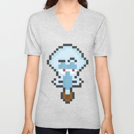 Squidward Pixels Unisex V-Neck