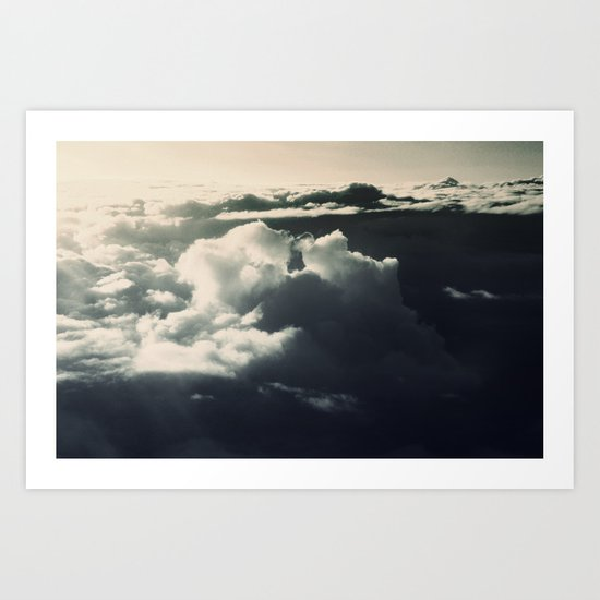 Face in the sky Art Print