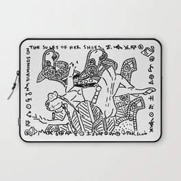 Diamonds on the Soles of Her Shoes  (Two of diamonds, bellydancer and camels) Laptop Sleeve