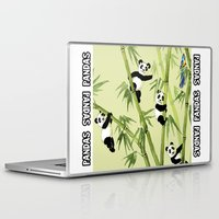 pandas Laptop & iPad Skins featuring Pandas by Volha