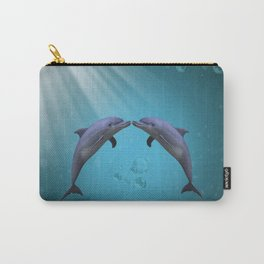 dolphins love Carry-All Pouch