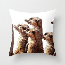 Meerkat Suricate Suricata suricatta Mammal Band Brothers Stand Throw Pillow