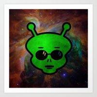alien Art Prints featuring Alien by Spooky Dooky