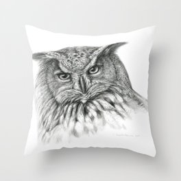Owl (G2-011)  bubo bubo  Throw Pillow